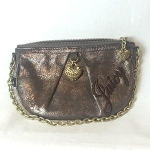 Juicy Couture Mini bronze bag with charm EUC